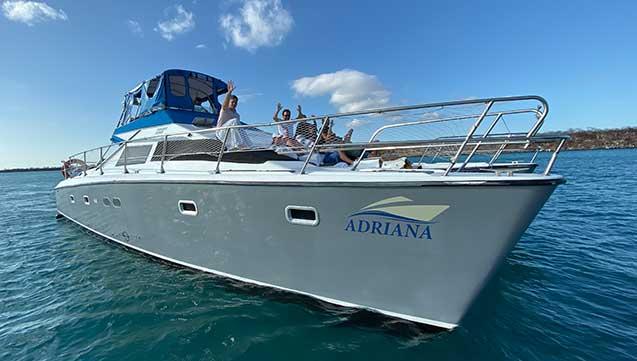 adriana yacht in bartholomew